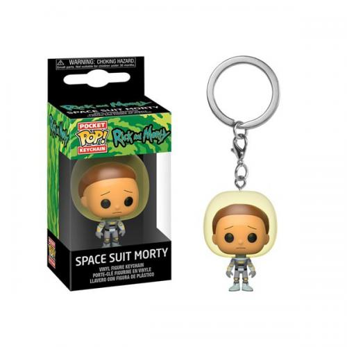 RICK & MORTY - Pocket Pop Keychains - Morty w/ Space Suit - 4cm