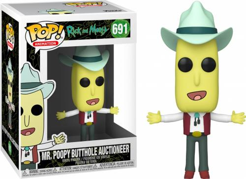RICK & MORTY - Bobble Head POP N° 691 - Mr Poopy Butthole Auctioneer