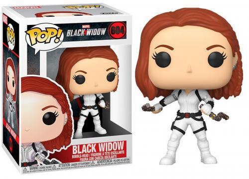 BLACK WIDOW - Bobble Head POP N° 604 - Black Widow (White Suit)