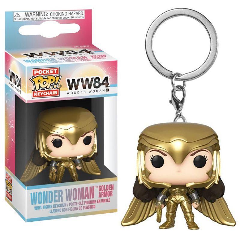 WW84 - Pocket Pop Keychains - Wonder Woman Gold Wing - 4cm_1
