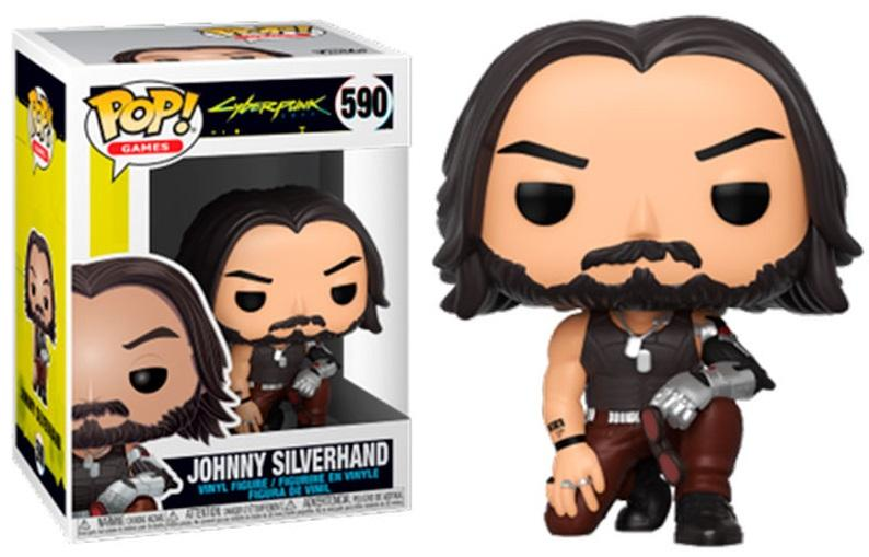 CYBERPUNK 2077 - Bobble Head POP N° 590 - Johnny Silverhand (crouch)_1