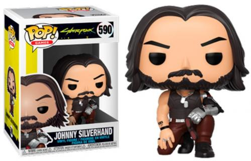 CYBERPUNK 2077 - Bobble Head POP N° 590 - Johnny Silverhand (crouch)