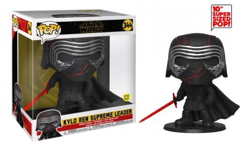 STAR WARS - Bobble Head POP N° 344 - Kylo Ren GITD OVERSIZED 25cm