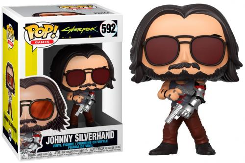 CYBERPUNK 2077 - Bobble Head POP N° 592 - Johnny Silverhand w/Gun