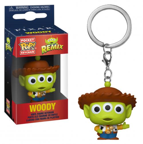 TOY STORY - Pocket Pop Keychain - Alien Remix Woody