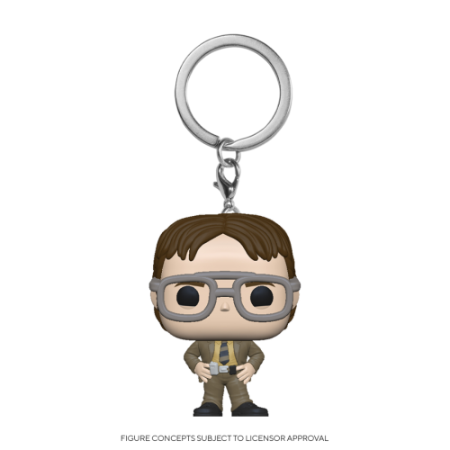 THE OFFICE - Pocket Pop Keychains - Dwight Schrute - 4cm
