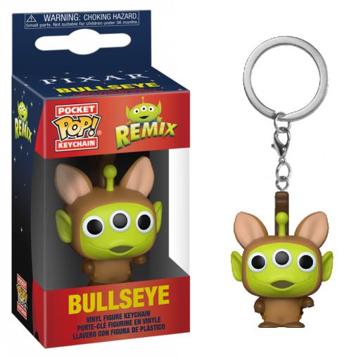 TOY STORY - Pocket Pop Keychain - Alien Remix Bullseye