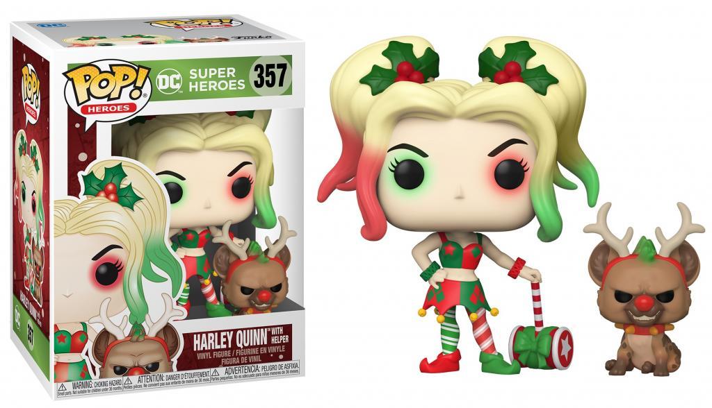 DC COMICS - Bobble Head POP N° 357 - Holiday Harley Quinn w/ Helper_1