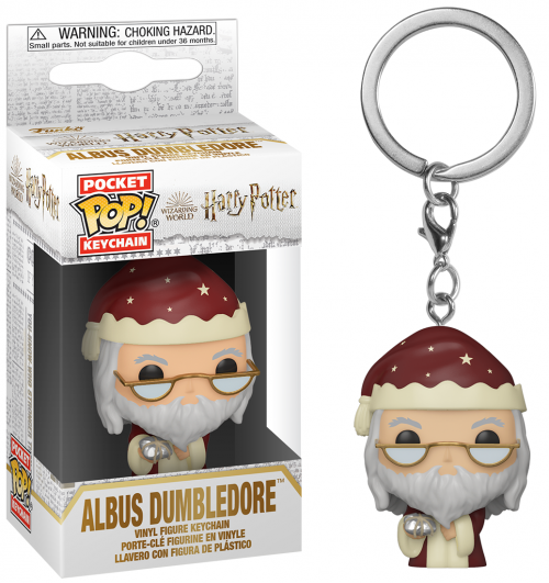 HARRY POTTER - Pocket Pop Keychain - Holiday Albus Dumbledore