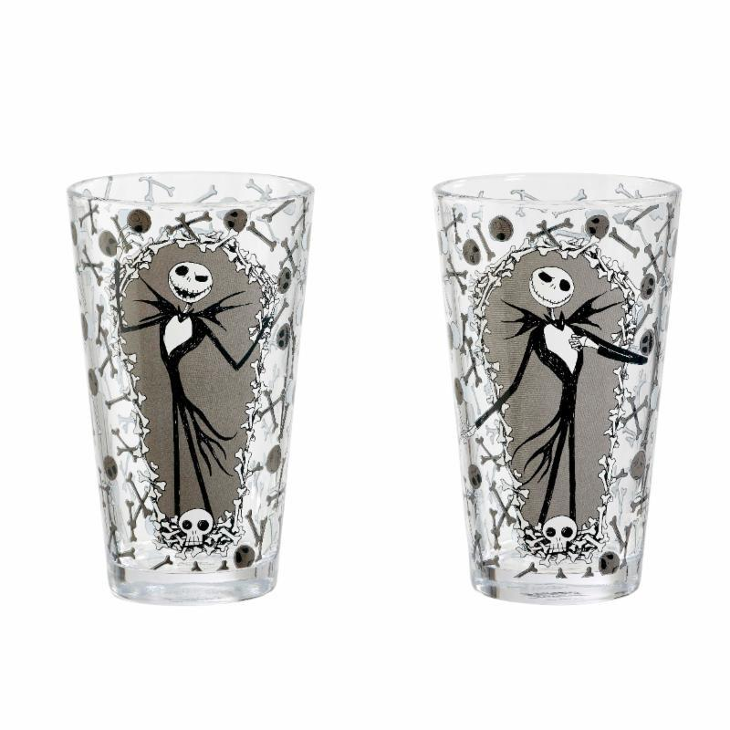 NIGHTMARE BEFORE CHRISTMAS : Pack 2 Verres à Bière Jack and Bones