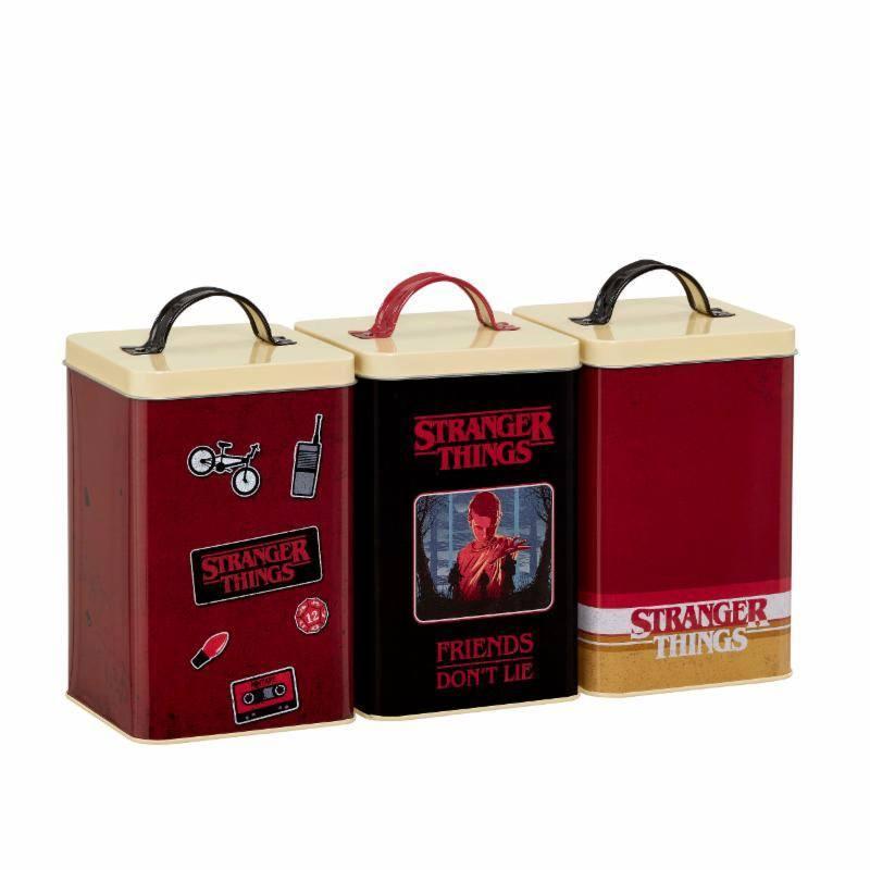 STRANGER THINGS - 3 Tins Set - Retro Logo