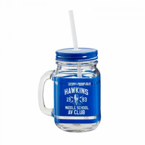 STRANGER THINGS - Hawkins AV Club - Verre mason jar