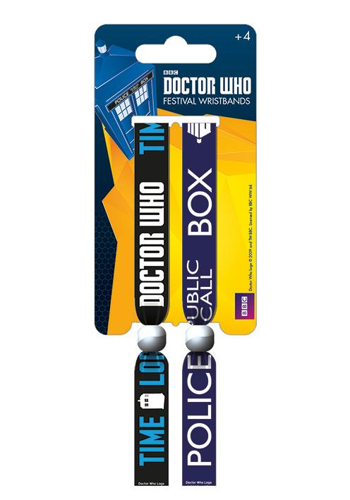 DOCTOR WHO - Pack 2 Bracelet en Tissu - Call Box