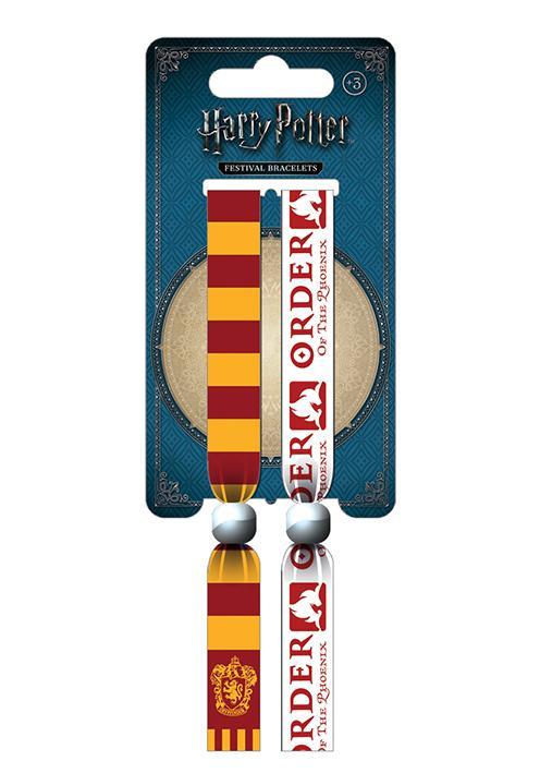 HARRY POTTER - Pack 2 Bracelet en Tissu - Gryffindor