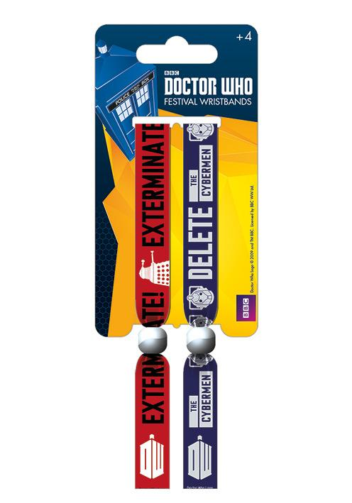 DOCTOR WHO - Pack 2 Bracelet en Tissu - Monsters