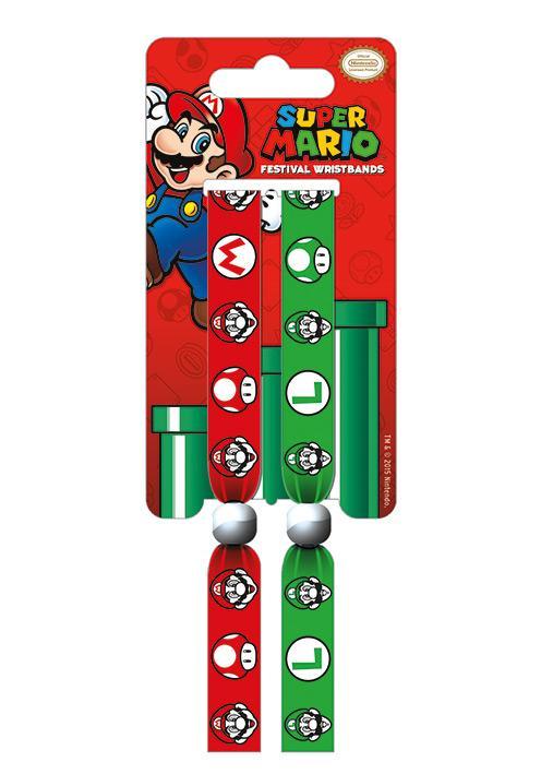 NINTENDO - Pack 2 Bracelet en Tissu - Super Mario