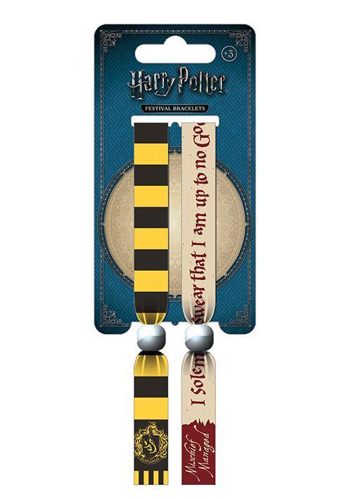 HARRY POTTER - Pack 2 Bracelet en Tissu - Hufflepuff