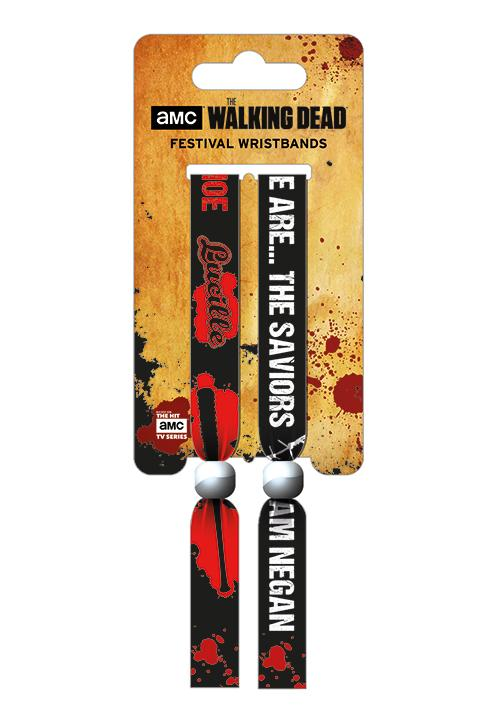 WALKING DEAD - Pack 2 Bracelet en Tissu - The Saviors_1