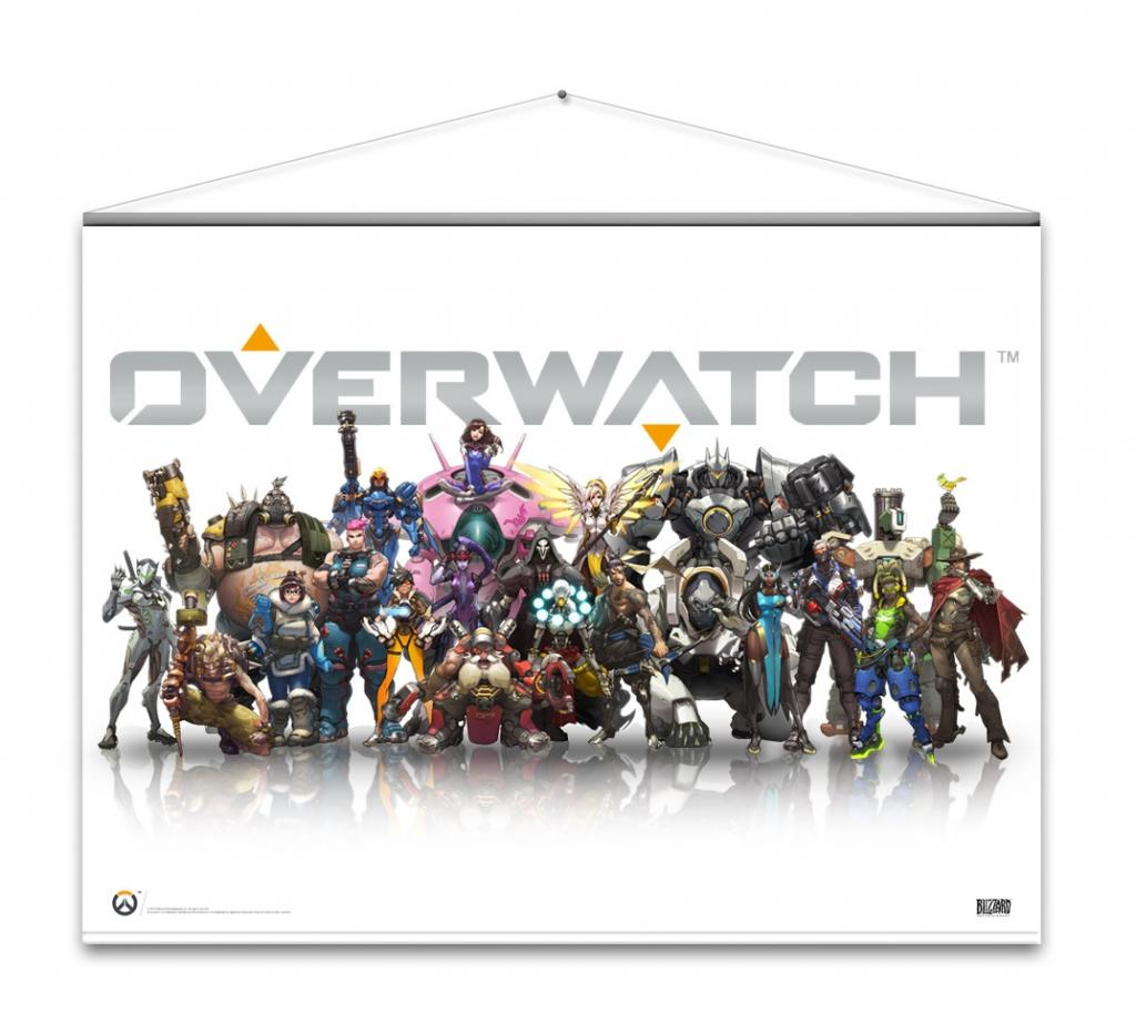 OVERWATCH - WallScroll 100X77 - Heroes