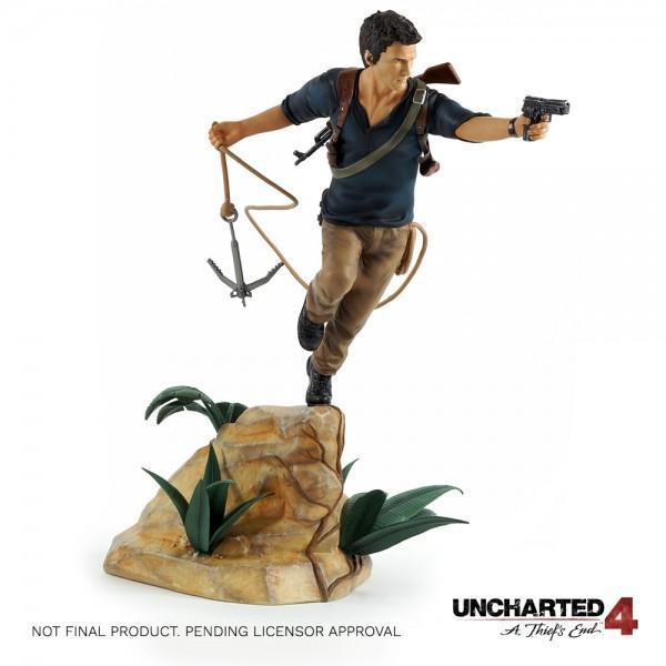 UNCHARTED 4 - Premium HQ PVC Statue Nathan Drake - 30Cm