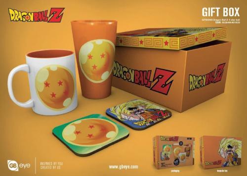 DRAGON BALL Z - Gift Box - Chope, mug, 2 dessous de verre - 4 Stars