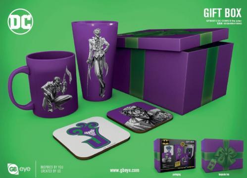 DC COMICS - Gift Box - Chope, mug, 2 dessous de verre - Joker