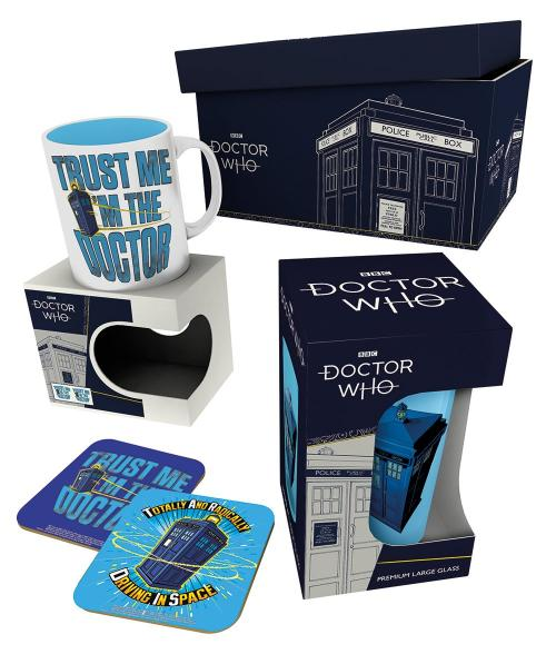 DOCTOR WHO - Giftbox - Chope mug & 2 dessous de verre - Tardis