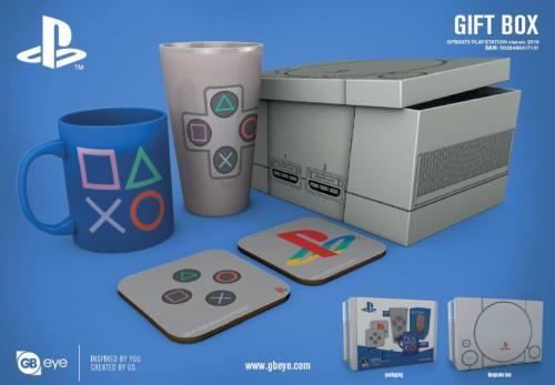 PLAYSTATION - Gift Box - Chope, mug, 2 dessous de verre - Classic