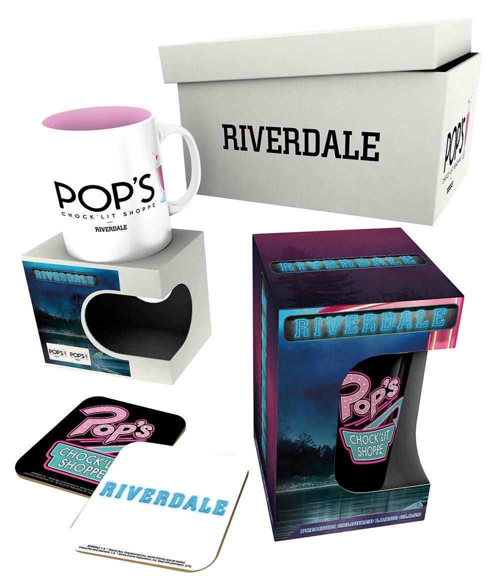 RIVERDALE - Giftbox - Chope, mug & 2 dessous de verre - Pop's