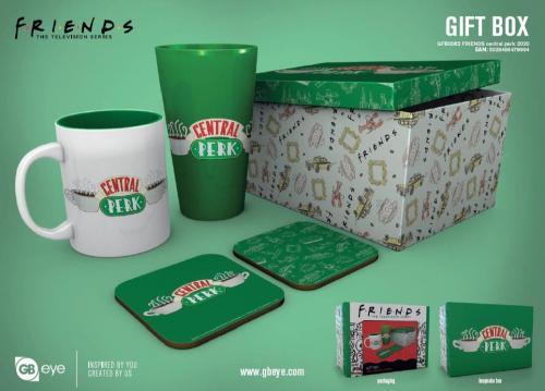 FRIENDS - Gift Box - Chope, mug, 2 dessous de verre - Central Perk