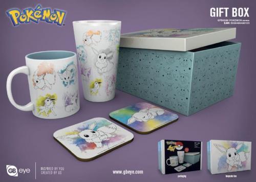POKEMON - Gift Box - Chope, mug, 2 dessous de verre - Evoli
