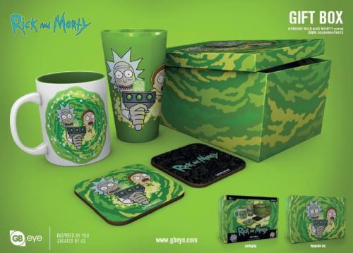 RICK & MORTY - Gift Box - Chope, mug, 2 dessous de verre - Portail