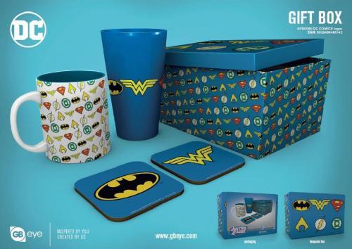 DC COMICS - Gift Box - Chope, mug, 2 dessous de verre - Logos