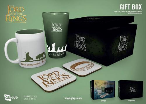 LORD OF THE RINGS - Gift Box - Chope, mug, 2 dessous de verre - Fellow