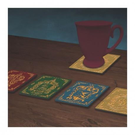 HARRY POTTER - Hogwarts Crest Coasters Pack