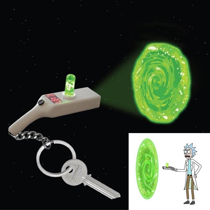 RICK AND MORTY - Porte-Cles Projecteur - Portal Gun