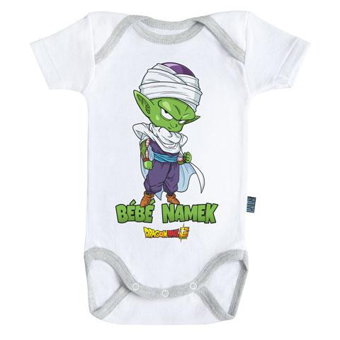 DRAGON BALL SUPER - Body Bébé - Piccolo : Bébé Namek (6-12 Mois)