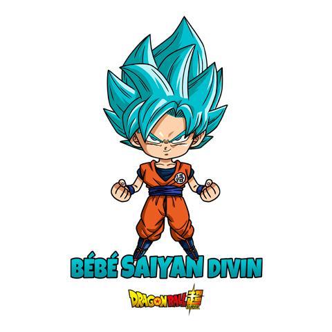 DRAGON BALL SUPER - Body Bébé - Goku : Bébé Saiyan Divin (3-6 Mois)_2