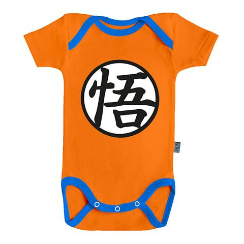 DRAGON BALL SUPER - Body Bébé - Tenue de Goku (3-6 Mois)