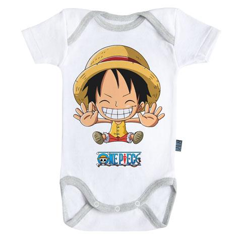 ONE PIECE - Body Bébé - Luffy Free Hugs (3-6 Mois)