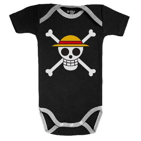 ONE PIECE - Body Bébé - Drapeau de Luffy (3-6 Mois)