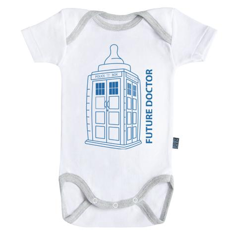 DOCTOR WHO - Body Bébé - Future Doctor - Bleu (18-24 Mois)