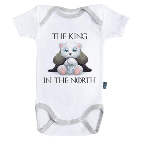 GAME OF THRONES - Body Bébé - King in the north - (3-6 Mois)