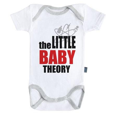 BIG BANG THEORY - Body Bébé - Little Baby Theory - (3-6 Mois)