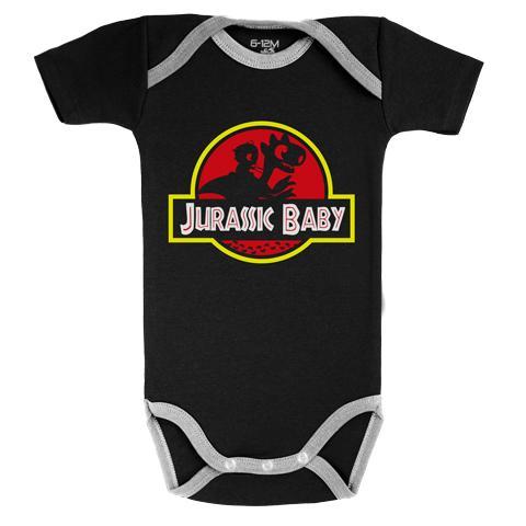 JURASSIC PARK - Body Bébé - Jurassic Baby 'BLACK' (3-6 Mois)