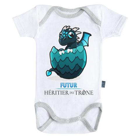 GAME OF THRONES - Body Bébé - Futur Héritier - Bleu (18-24 Mois)