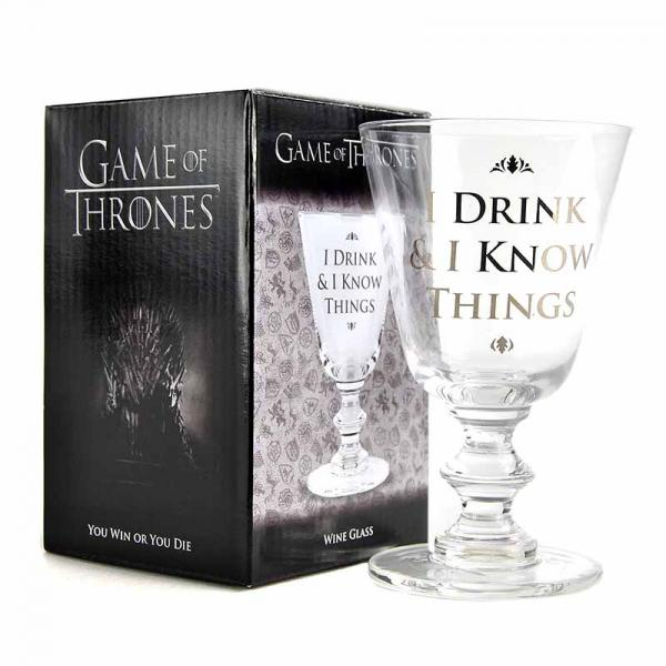 GAME OF THRONES - Wine Glass 275 ml - I Drink & I Know Things