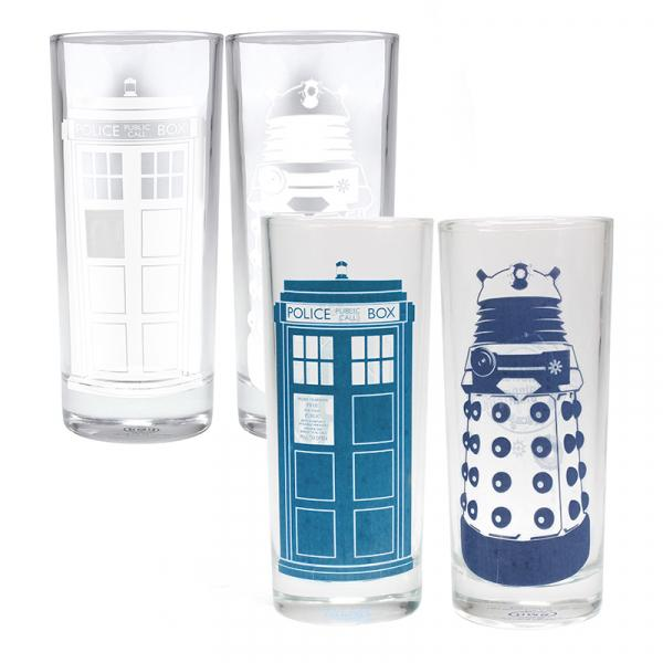 DOCTOR WHO - Cold Changing Glasses 'Set of 2' - Tardis & Dalek_3