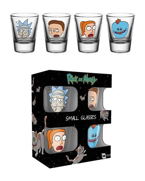 RICK & MORTY - Shot Glass - Faces
