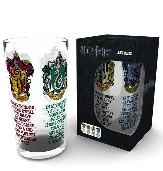 HARRY POTTER - Large Glasses 500ml - House Crest